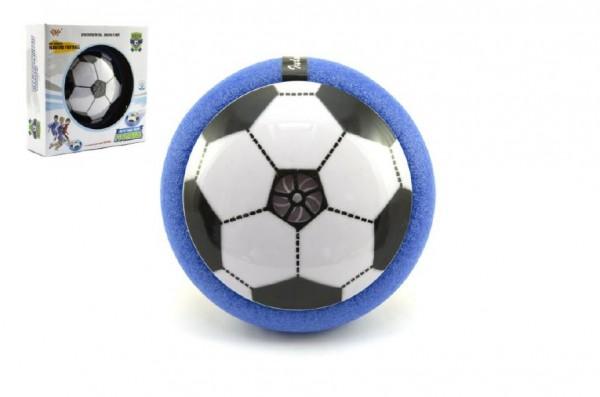 Air Disk fotbalový míč vznášející se plast 14cm na baterie se světlem v krabičce