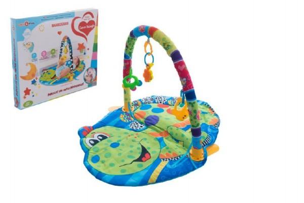 Hrazda pro děti s podložkou a chrastítky v krabici 55x49x7cm 0m+