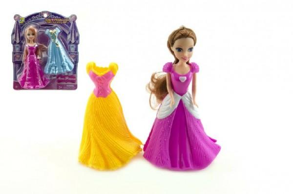 Panenka měnící šaty  plast 16 cm 2 druhy na kartě