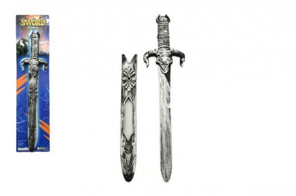 Meč s pouzdrem plast 52cm na kartě