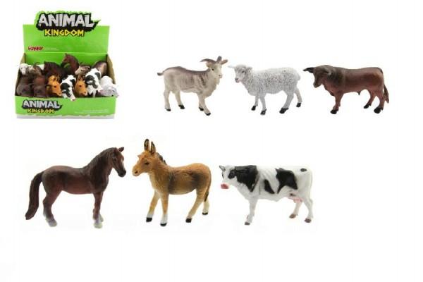 Zvířátko domácí farma plast 10cm asst mix druhů 12ks v boxu