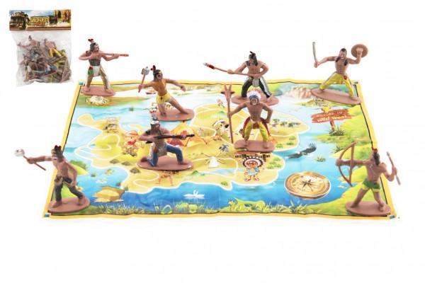 Indiáni s mapou plast 6cm v sáčku