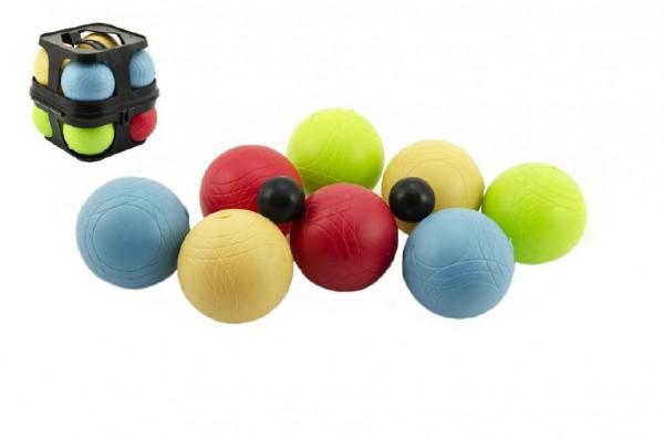 Petanque koule hra plast 8ks v plastovém kufříku 14x15x14cm