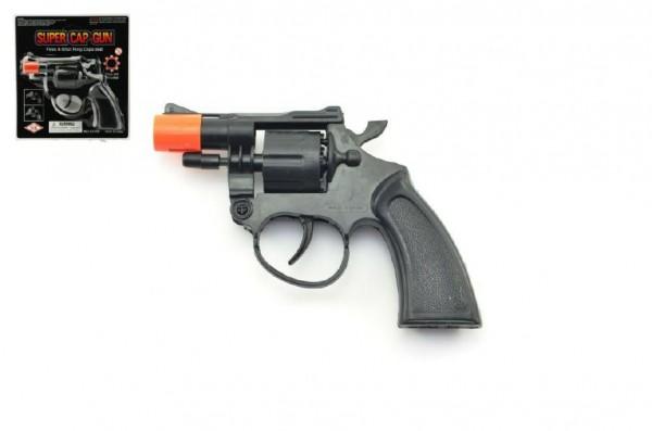 Pistole na kapsle 8 ran plast 13cm na kartě