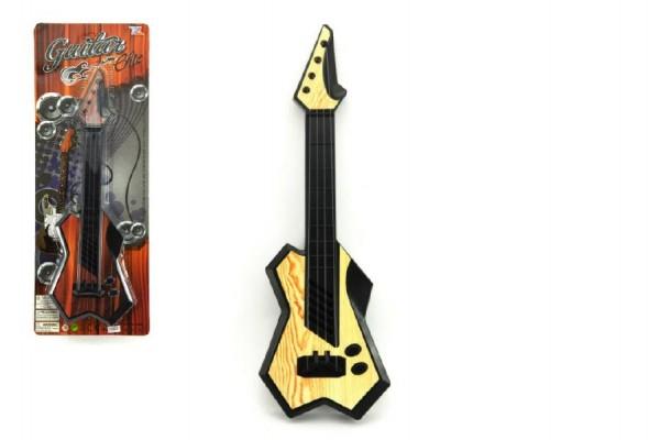 Kytara 40cm plast asst 2 barvy na kartě