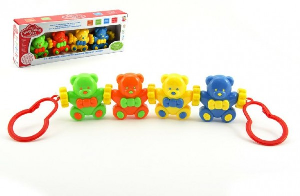 Řetěz/zábrana Baby medvídci plast v krabici 33x12x5cm 3m+