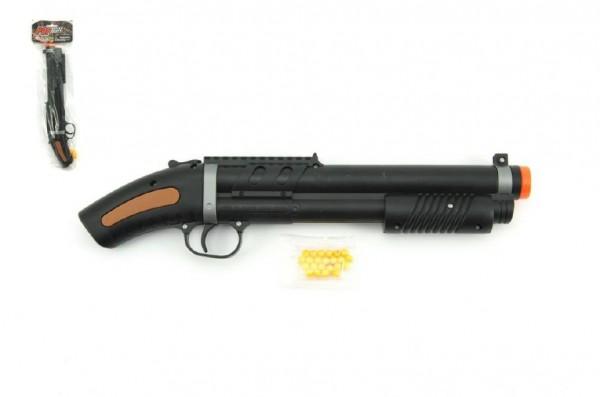 Pistole/brokovnice na kuličky 34cm + kuličky plast v sáčku
