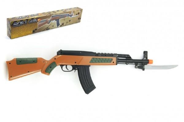 Pistole samopal se zásobníkem na kuličky 56cm + kuličky plast v krabici