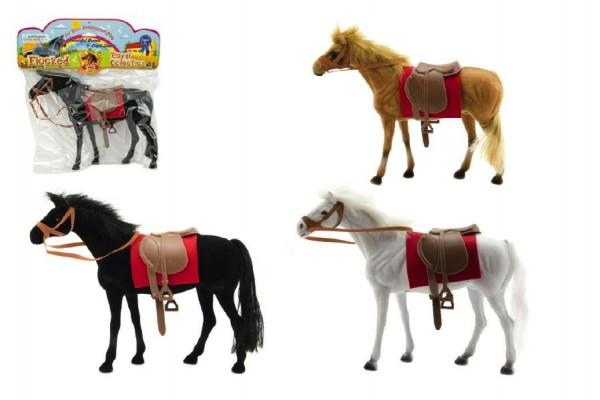 Kůň fliška 28cm asst 3 barvy v sáčku
