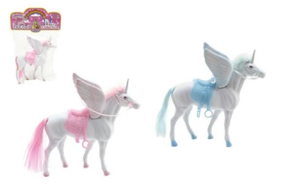 Jednorožec kůň fliška s křídly 18cm asst 2 barvy v sáčku