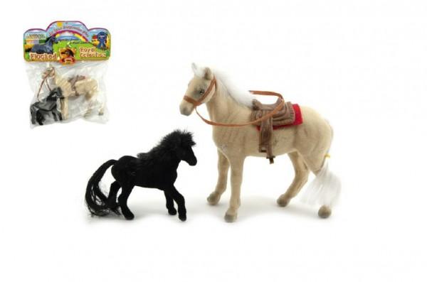 Kůň 13cm s hříbětem 9cm fliška 2ks v sáčku