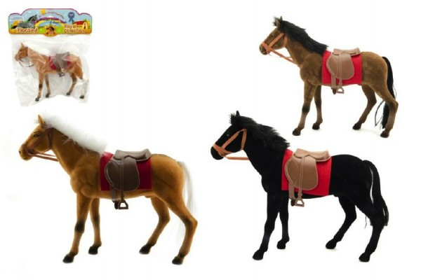 Kůň fliška 30cm asst 3 barvy v sáčku