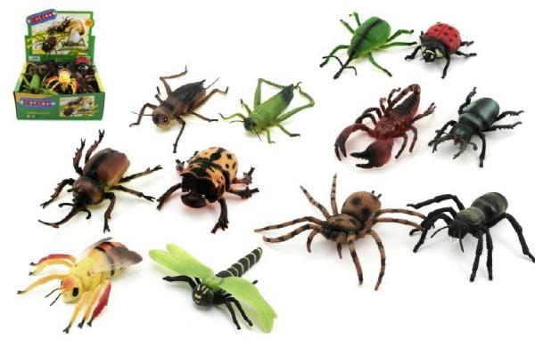 Hmyz plast 20cm asst 24ks v boxu