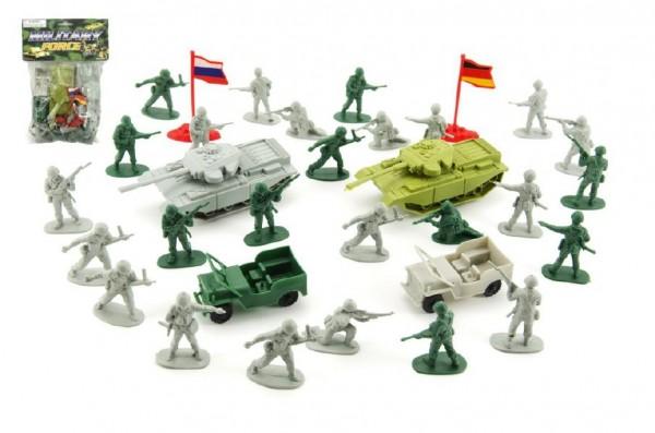 Vojáci sada plast s doplňky v sáčku