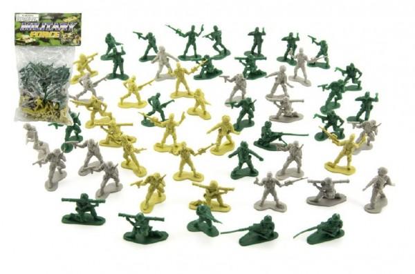 Vojáci sada plast 4cm 3 barvy v sáčku