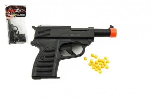 Pistole na kuličky plast 14cm v sáčku