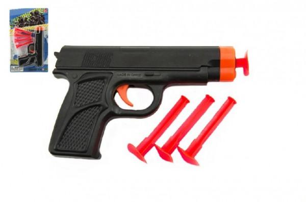 Pistole na přísavky plast 14cm na kartě 13x22x2cm