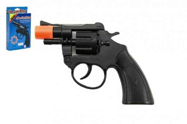 Pistole/Kolt na kapsle 8 ran plast v krabičce 9x16x2cm