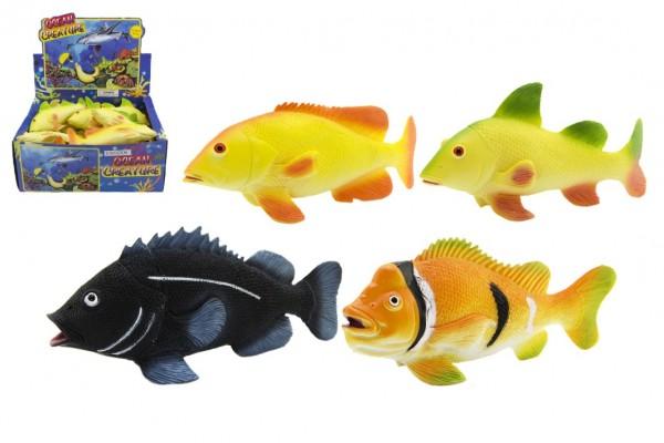Ryba 20cm plast asst 4 druhů 24ks v boxu