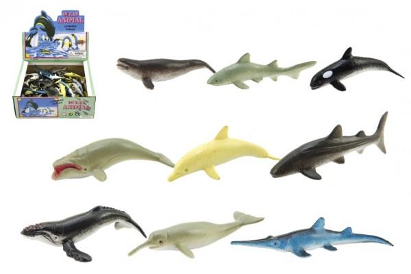 Zvířátka mořská  plast 6cm asst mix druhů 72ks v boxu