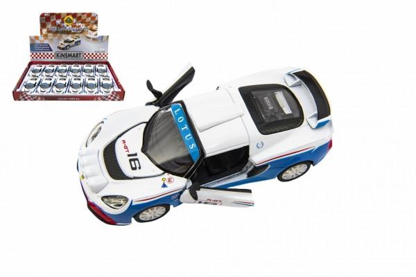 Auto Kinsmart 2012 Lotus Exige R-GT 1:32 12,5cm kov/plast na zpětné natažení 12ks v boxu