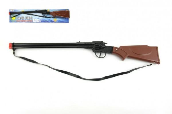 Pistole/Puška na kapsle 8 ran kov/plast 65cm na kartě