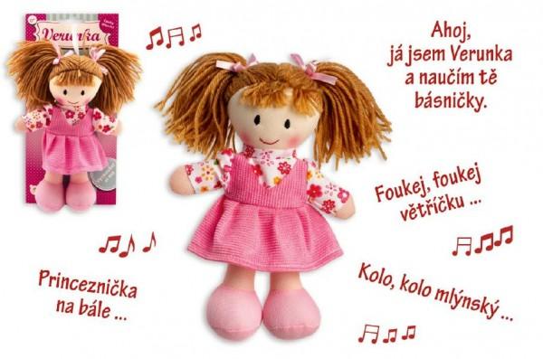 Panenka Verunka hadrová plyš mluvící česky