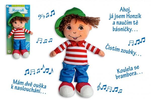 Panenka/Panáček kluk Honzík hadrový plyš 30 cm česky mluvící na kartě