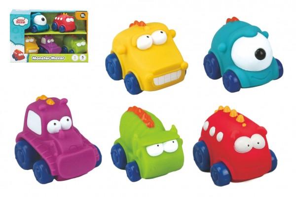 Auto/Autíčko Monster 5ks guma 7cm v krabičce 20x13x8cm 18m+