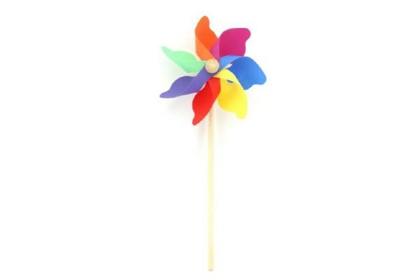 Větrník dřevo/plast 38x17cm