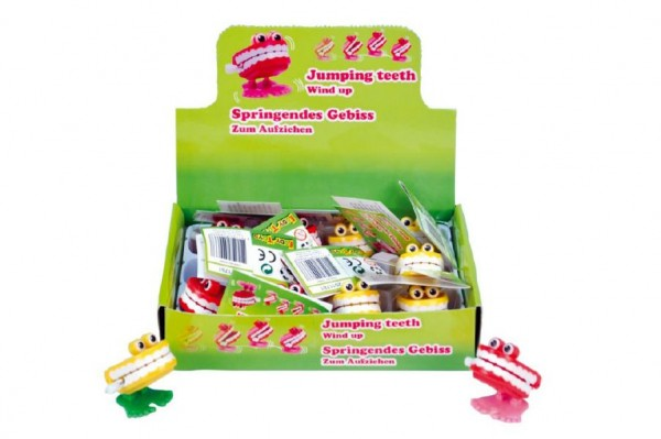 Zuby natahovací plast 4x4cm asst 2 barvy 12ks v boxu