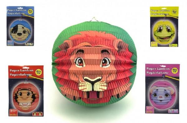 Lampion zvířátko 25cm asst 6 druhů karneval