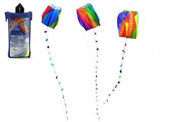 Drak nylon létající 60x51cm asst 3 druhy v plastovém sáčku