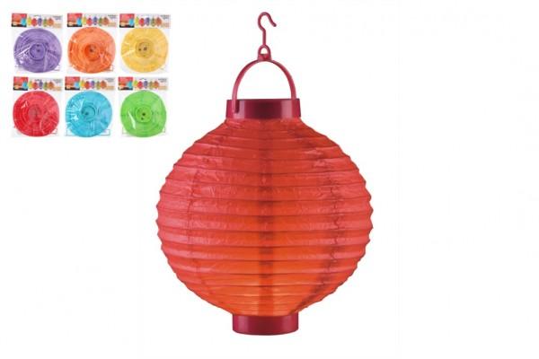 Lampion průměr 20cm LED na baterie asst 6 druhů v sáčku (bez hůlky) karneval