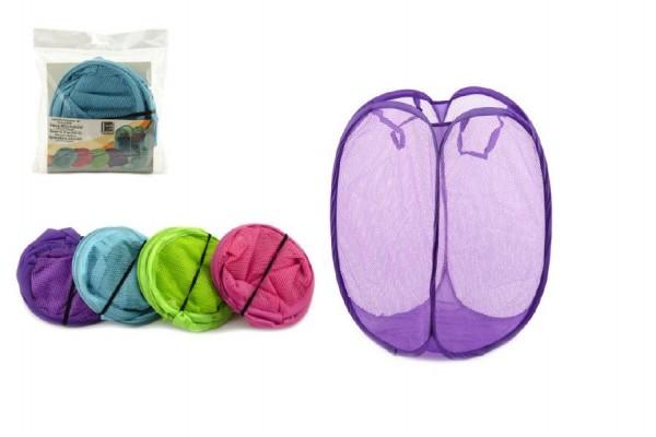 Koš na hračky/prádlo 28x28x50cm asst 4 barvy v sáčku