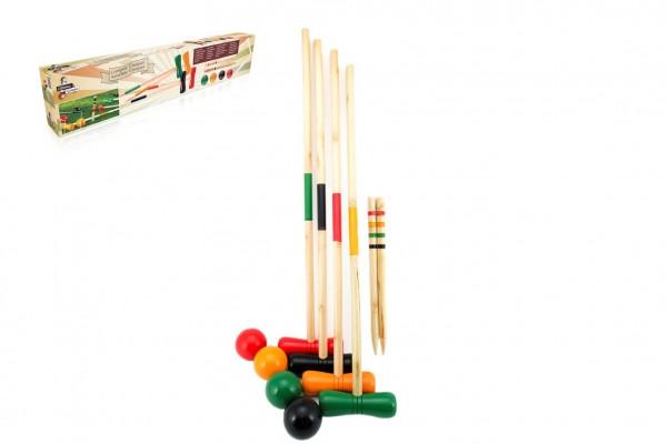 Hra Kroket dřevo pro 4 hráče v krabici 77x8x15cm