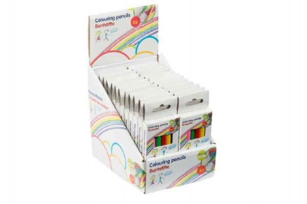 Pastelky krátké 6ks v krabičce 4,5x11cm 24ks v boxu