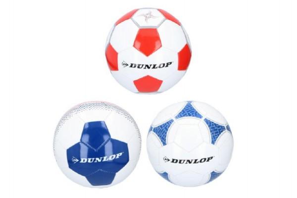 Míč fotbalový Dunlop šitý 22cm vel. 5 kůže asst 3 barvy v sáčku