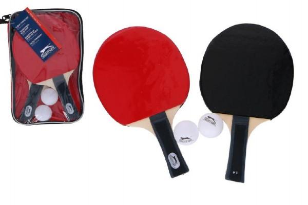 Sada stolní tenis 2 pálky + 2 míčky v plastové tašce 16x26x3cm
