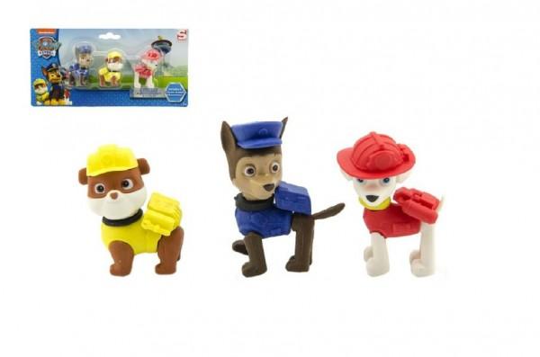 Puzzle 3D Paw Patrol/Tlapková patrola figurky gumové 3ks na kartě
