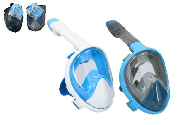 Šnorchlovací potápěčská maska pro dospělé 25cm vel. S-M asst 2 barvy v sáčku
