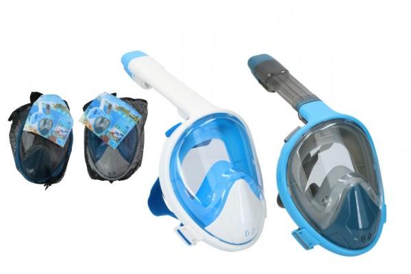 Šnorchlovací maska pro dospělé 27cm vel. L-XL asst 2 barvy v sáčku