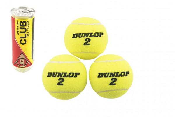 Tenisové míčky Dunlop 3ks v tubě 8x21x8cm