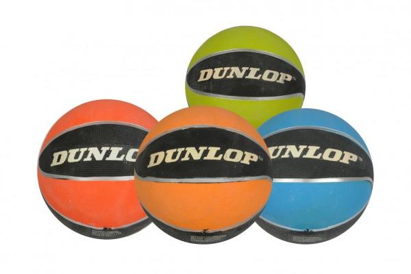 Míč basketbalový Dunlop nafouklý 31cm 4 barvy vel. 7 v sáčku