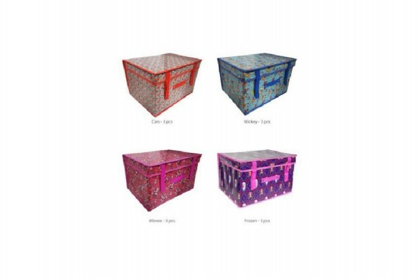 Koš/Krabice na hračky Disney 30x40x25cm asst 4 druhy v sáčku