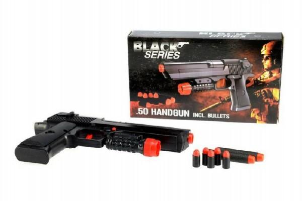 Pistole na pěnové náboje plast 24cm s náboji v krabici 25x14x4,5cm