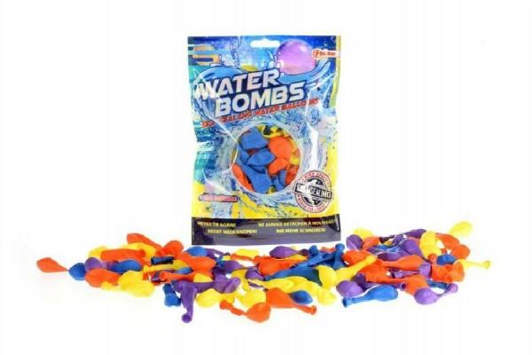 Vodní bomby +/-100ks se samotěsnícím úzávěrem a nástavcem na kohoutek v sáčku II