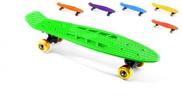 Skateboard 55cm nosnost 50kg asst 6 barev