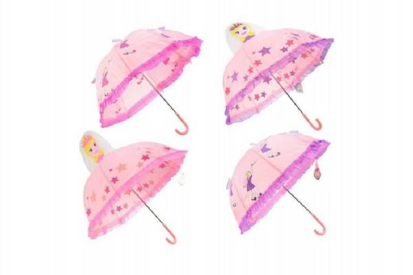 Deštník 3D princezna/víla průměr 70cm asst 2 barvy v sáčku