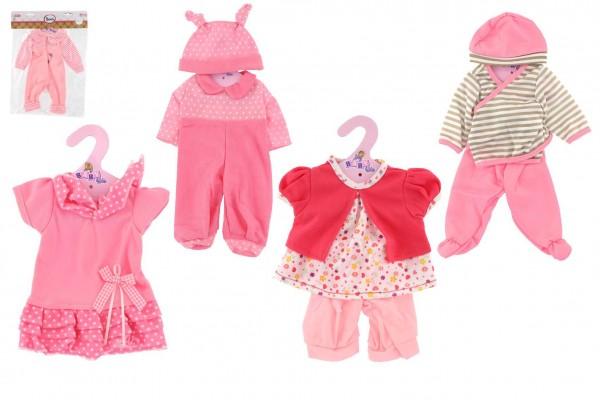 Oblečky/Šaty pro panenky vel. 20-30cm  - růžový proužek
